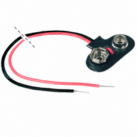 "STRAP BATTERY 9V T-STYLE 6""LEAD"