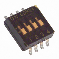 SWITCH DIP 4POS HALF PITCH SMD