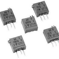 Trimmer Resistors - Multi Turn 3/8 SQ 50ohms Multi Turn Cermet
