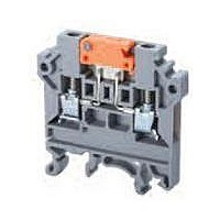 DIN Rail Terminal Blocks Spring Clamp 1in2out