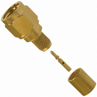 CONN SMA PLUG STRA. CRIMP GOLD