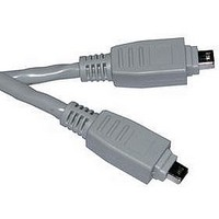 COMPUTER CABLE, IEEE 1394, 6FT, GRAY