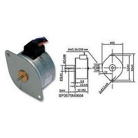 STEPPER MOTOR, 7.5DEG