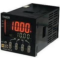 Powers on as shown Omron  H5CX-A11 Digital Timer w//DIN Rail Mountable Socket