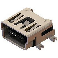 MINI USB CONNECTOR, RECEPTACLE 5POS, SMD