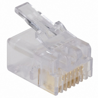 CAT3 MODULAR PLUG, 6POS, 1 PORT