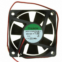 FAN 12VDC 60X15MM 1.9W 21CFM