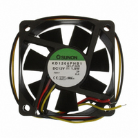 FAN 12VDC 60X15MM 1.9W 21CFM TAC
